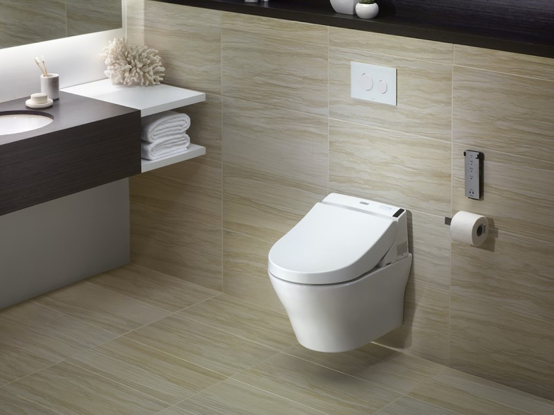 Bồn cầu treo tường là xu hướng mới cho phòng tắm hiện đại
