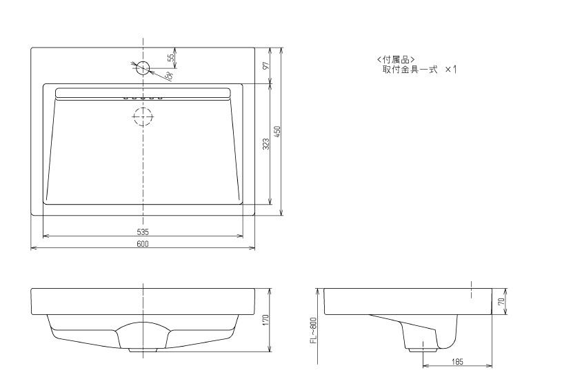 Bản vẽ kỹ thuật lavabo đặt bàn TOTO LS911CR