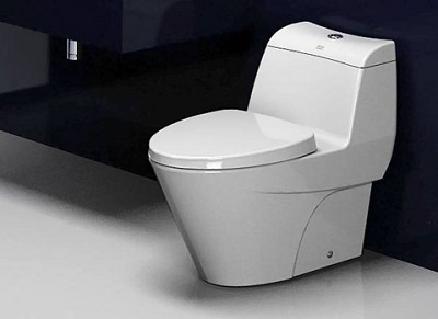 Bồn cậu 1 khối phù hợp với những phòng tắm có diện tích vừa và lớn